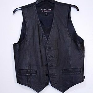 Leather rider vest (Wilsons Leather) size M